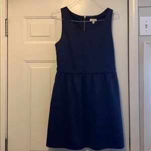 Maison Jules Navy Fit and Flare Dress